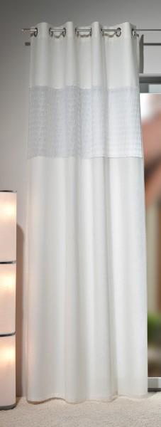 Gardine Ösenschal Galaxy 90, Vorhang mit Einsatz, cremeweiß, Top Qualität von Heco Textilverlag
