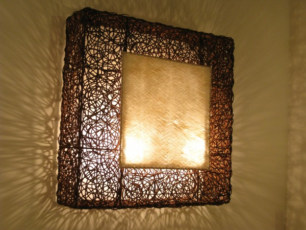 Wandlampe Artis 80 x 80 cm Wandleuchte Rattan