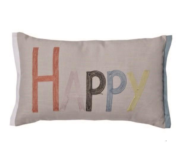 Kissen Dekokissen HAPPY