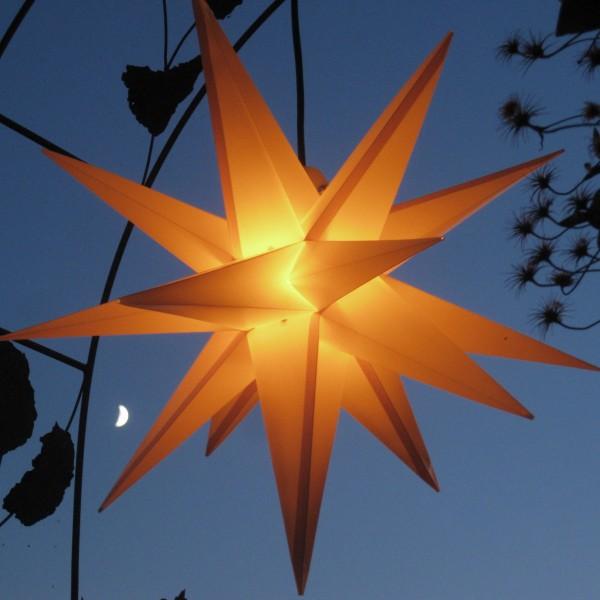 Beleuchteter und faltbarer Außenstern