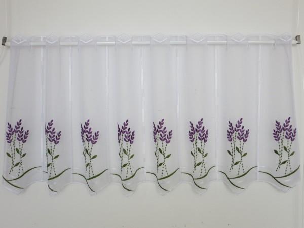 Panneaux Scheibengardine Lavendel grün/lila ca. 44 cm hoch - Preis: 1 Musterbreite à 16 cm = 1 Stück